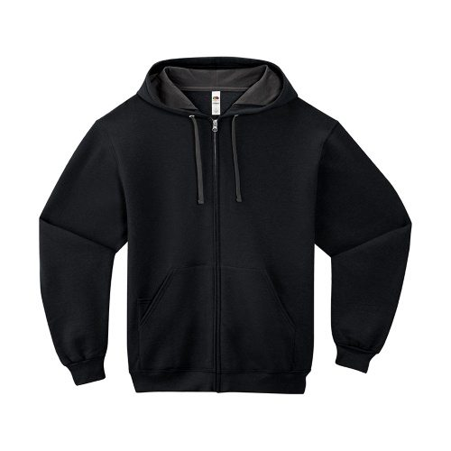 Custom Printed Fruit of the Loom SF73R Sofspun Full Zip Hooded Sweatshirt - Front View | ThatShirt