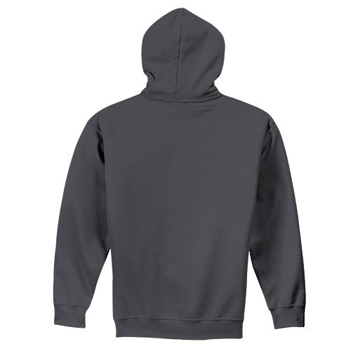 Custom Printed Fruit of the Loom SF73R Sofspun Full Zip Hooded Sweatshirt - 4 - Back View | ThatShirt