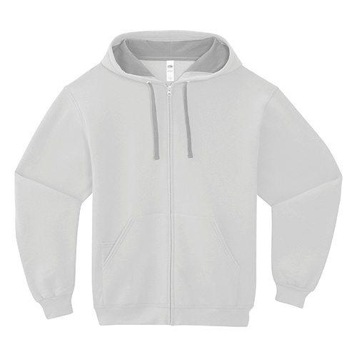 Custom Printed Fruit of the Loom SF73R Sofspun Full Zip Hooded Sweatshirt - Front View   ThatShirt