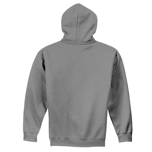 Custom Printed Fruit of the Loom SF76R Softspun Hooded Sweatshirt - 2 - Back View | ThatShirt