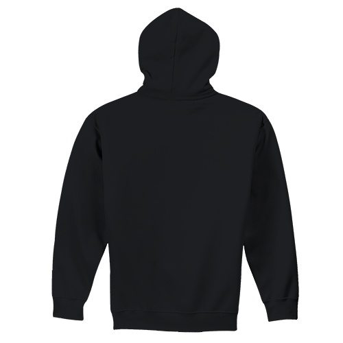 Custom Printed Fruit of the Loom SF76R Softspun Hooded Sweatshirt - 3 - Back View | ThatShirt