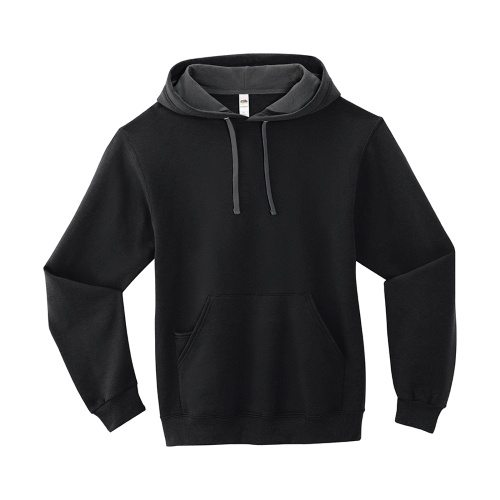 Custom Printed Fruit of the Loom SF76R Softspun Hooded Sweatshirt - 3 - Front View | ThatShirt