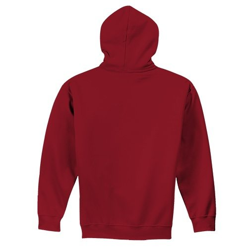 Custom Printed Fruit of the Loom SF76R Softspun Hooded Sweatshirt - 4 - Back View | ThatShirt