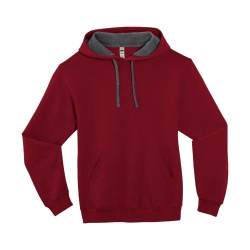 Custom Printed Fruit of the Loom SF76R Softspun Hooded Sweatshirt - 4 - Front View | ThatShirt