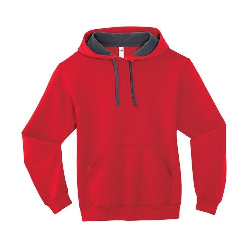Custom Printed Fruit of the Loom SF76R Softspun Hooded Sweatshirt - 8 - Front View | ThatShirt