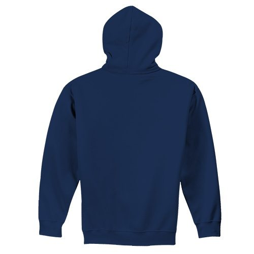 Custom Printed Fruit of the Loom SF76R Softspun Hooded Sweatshirt - 9 - Back View | ThatShirt