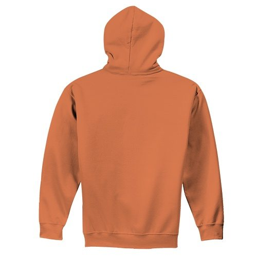 Custom Printed Fruit of the Loom SF76R Softspun Hooded Sweatshirt - 10 - Back View | ThatShirt