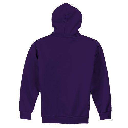 Custom Printed Fruit of the Loom SF76R Softspun Hooded Sweatshirt - 11 - Back View   ThatShirt