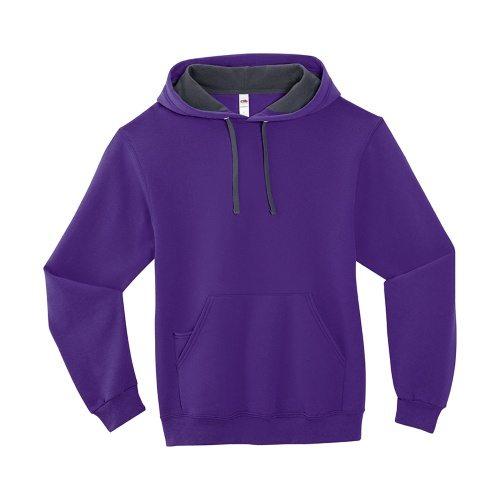 Custom Printed Fruit of the Loom SF76R Softspun Hooded Sweatshirt - Front View   ThatShirt