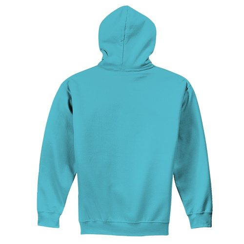 Custom Printed Fruit of the Loom SF76R Softspun Hooded Sweatshirt - 0 - Back View | ThatShirt