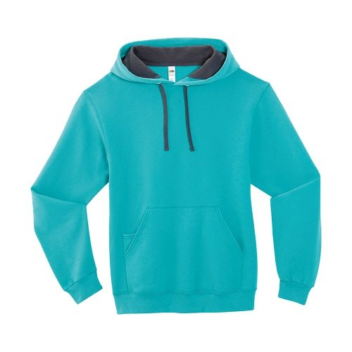 Custom Printed Fruit of the Loom SF76R Softspun Hooded Sweatshirt - 0 - Front View | ThatShirt