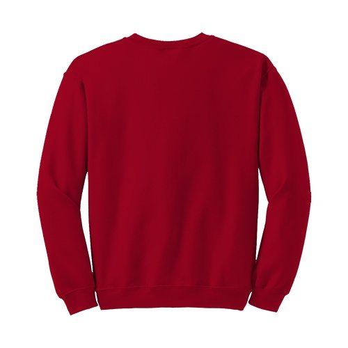 Custom Printed Gildan 1801 Heavy Blend 50/50 Crewneck Sweater - 7 - Back View | ThatShirt