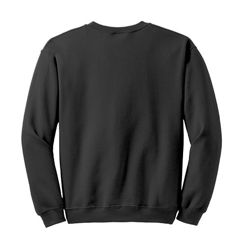Custom Printed Gildan 1801 Heavy Blend 50/50 Crewneck Sweater - 9 - Back View | ThatShirt