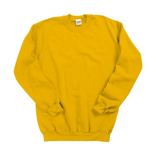 Custom Printed Gildan 1801 Heavy Blend 50/50 Crewneck Sweater - Front View | ThatShirt