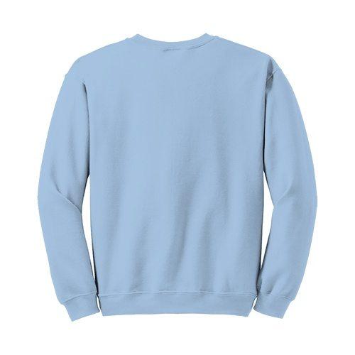 Custom Printed Gildan 1801 Heavy Blend 50/50 Crewneck Sweater - 18 - Back View | ThatShirt