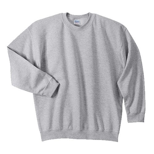 Custom Printed Gildan 1801 Heavy Blend 50/50 Crewneck Sweater - 32 - Front View | ThatShirt