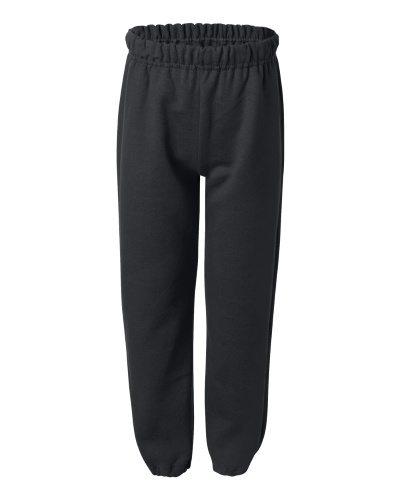 Custom Printed Gildan 182B Youth Heavy Blend Elastic Sweatpant - Front View   ThatShirt