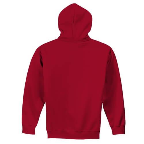 Custom Printed Gildan 1850 Heavy Blend 50–50 Pullover Hoodie - 6 - Back View | ThatShirt