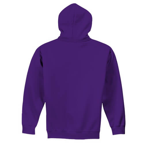 Custom Printed Gildan 1850 Heavy Blend 50–50 Pullover Hoodie - 20 - Back View | ThatShirt
