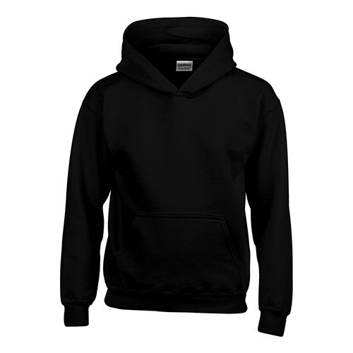 Custom Printed Gildan 185B Youth Heavy Blend 50/50 Hooded Sweatshirt - Front View | ThatShirt