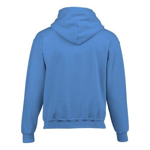 Custom Printed Gildan 185B Youth Heavy Blend 50/50 Hooded Sweatshirt - 3 - Back View | ThatShirt