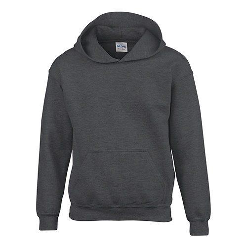 Custom Printed Gildan 185B Youth Heavy Blend 50/50 Hooded Sweatshirt - Front View   ThatShirt
