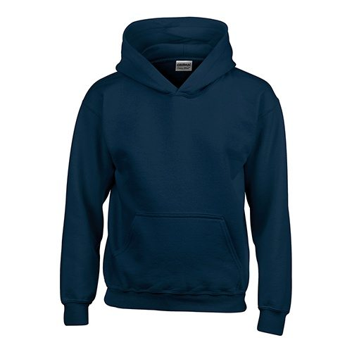 Custom Printed Gildan 185B Youth Heavy Blend 50/50 Hooded Sweatshirt - 13 - Front View | ThatShirt