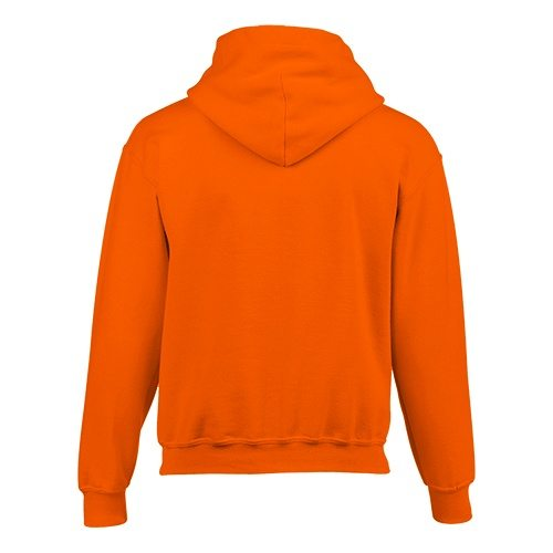 Custom Printed Gildan 185B Youth Heavy Blend 50/50 Hooded Sweatshirt - Orange - Back View | ThatShirt