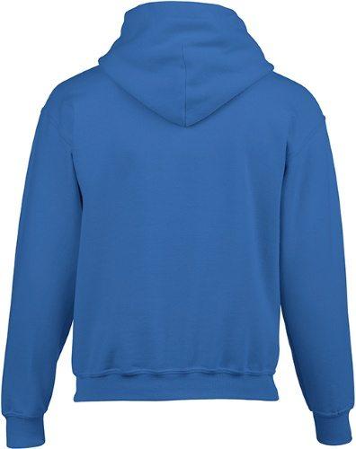 Custom Printed Gildan 185B Youth Heavy Blend 50/50 Hooded Sweatshirt - 16 - Back View | ThatShirt
