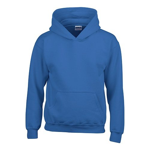 Custom Printed Gildan 185B Youth Heavy Blend 50/50 Hooded Sweatshirt - Front View | ThatShirt