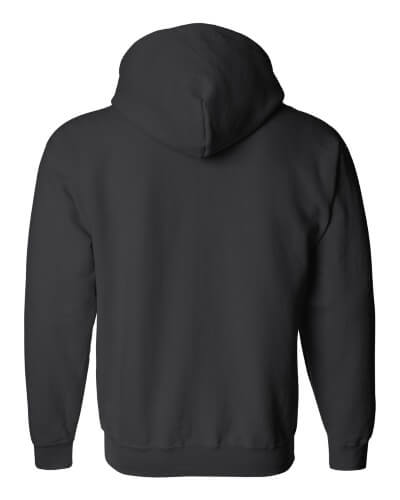 Custom Printed Gildan 1860 Heavy Blend 50/50 Full Zip Hooded Sweatshirt - 1 - Back View | ThatShirt
