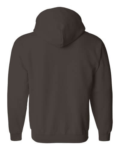 Custom Printed Gildan 1860 Heavy Blend 50/50 Full Zip Hooded Sweatshirt - 4 - Back View | ThatShirt