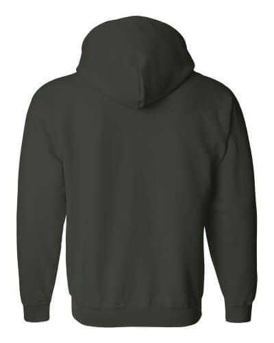 Custom Printed Gildan 1860 Heavy Blend 50/50 Full Zip Hooded Sweatshirt - 6 - Back View | ThatShirt