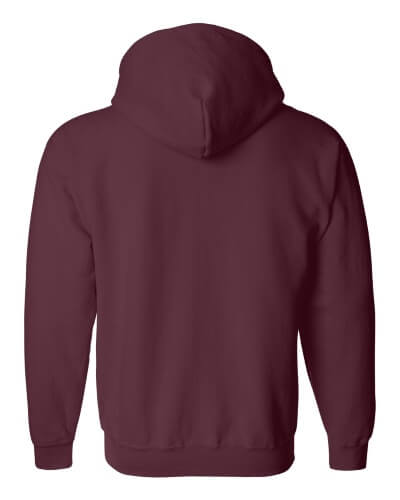 Custom Printed Gildan 1860 Heavy Blend 50/50 Full Zip Hooded Sweatshirt - 9 - Back View | ThatShirt