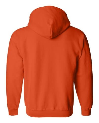 Custom Printed Gildan 1860 Heavy Blend 50/50 Full Zip Hooded Sweatshirt - 11 - Back View | ThatShirt