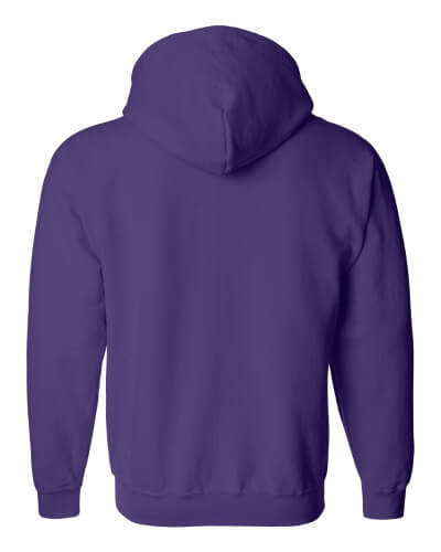 Custom Printed Gildan 1860 Heavy Blend 50/50 Full Zip Hooded Sweatshirt - 12 - Back View | ThatShirt