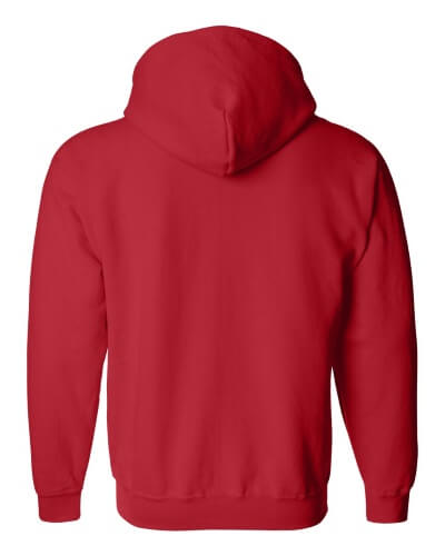 Custom Printed Gildan 1860 Heavy Blend 50/50 Full Zip Hooded Sweatshirt - 13 - Back View | ThatShirt