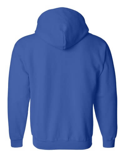 Custom Printed Gildan 1860 Heavy Blend 50/50 Full Zip Hooded Sweatshirt - 14 - Back View | ThatShirt