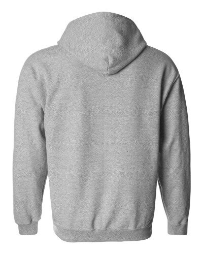 Custom Printed Gildan 1860 Heavy Blend 50/50 Full Zip Hooded Sweatshirt - 17 - Back View | ThatShirt