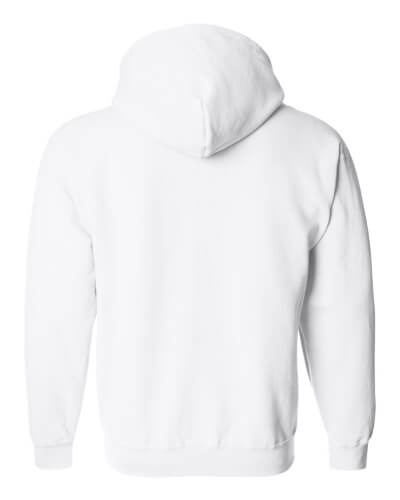 Custom Printed Gildan 1860 Heavy Blend 50/50 Full Zip Hooded Sweatshirt - 18 - Back View | ThatShirt
