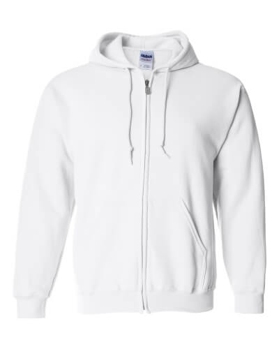 Custom Printed Gildan 1860 Heavy Blend 50/50 Full Zip Hooded Sweatshirt - Front View | ThatShirt