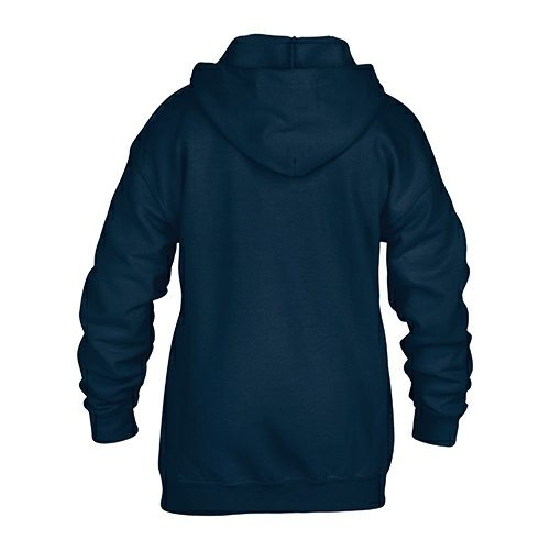 Custom Printed Gildan 186B Youth Heavy Blend 50/50 Full Zip Hooded Sweatshirt - 3 - Back View | ThatShirt