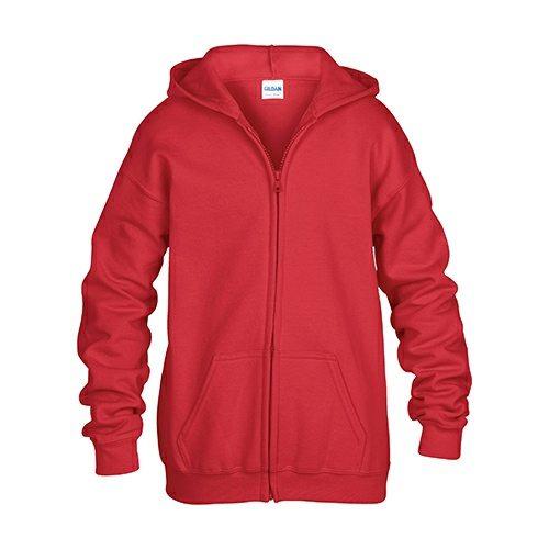 Custom Printed Gildan 186B Youth Heavy Blend 50/50 Full Zip Hooded Sweatshirt - Front View | ThatShirt