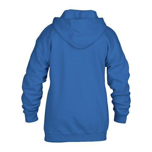 Custom Printed Gildan 186B Youth Heavy Blend 50/50 Full Zip Hooded Sweatshirt - Royal Blue - Back View   ThatShirt