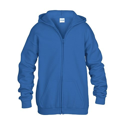 Gildan 186B Youth Heavy Blend 50/50 Full Zip Hooded Sweatshirt