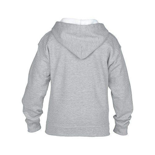 Custom Printed Gildan 186B Youth Heavy Blend 50/50 Full Zip Hooded Sweatshirt - 6 - Back View | ThatShirt