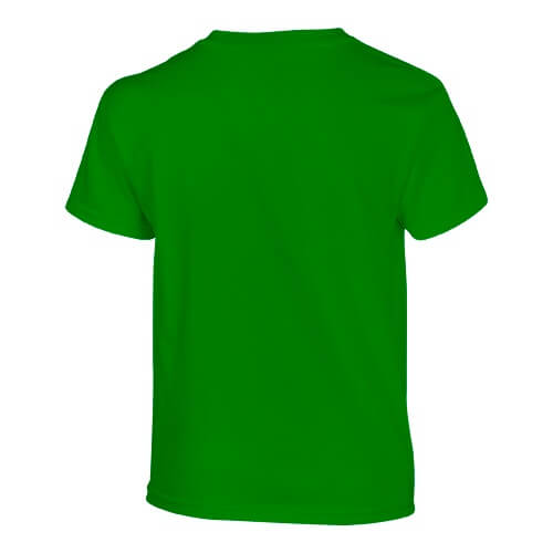 Custom Printed Gildan 200B Youth Ultra Cotton T-Shirt - Irish Green - Back View | ThatShirt