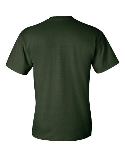 Custom Printed Gildan 2300 Ultra Cotton Pocketed T-Shirt - 4 - Back View | ThatShirt