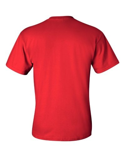 Custom Printed Gildan 2300 Ultra Cotton Pocketed T-Shirt - 9 - Back View | ThatShirt