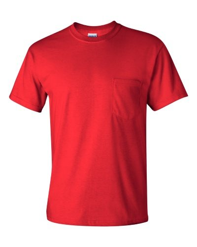 Custom Printed Gildan 2300 Ultra Cotton Pocketed T-Shirt - 9 - Front View | ThatShirt